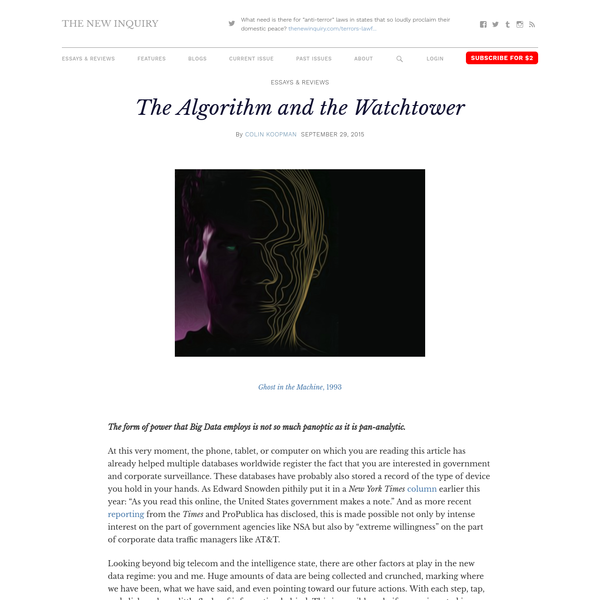 The Algorithm and the Watchtower