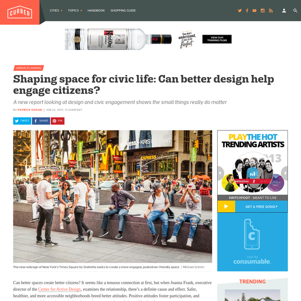 Shaping space for civic life: Can better design help engage citizens?