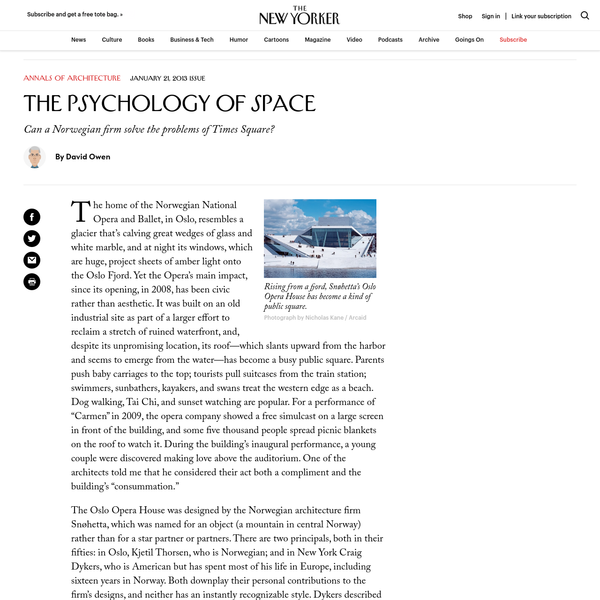 The Psychology of Space