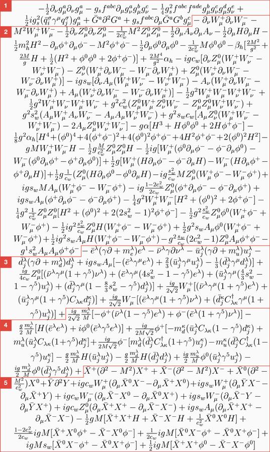 Lagrangian standard model