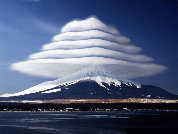 Lenticular Clouds, Mount Fuji, Japan