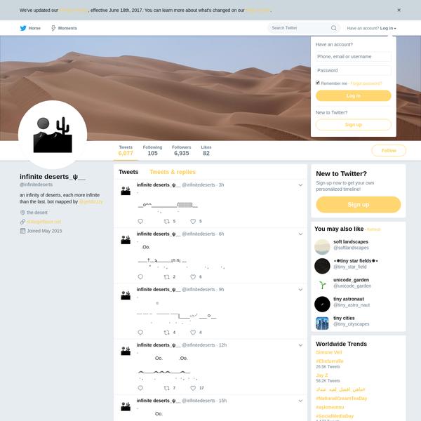 infinite deserts_ψ__ (@infinitedeserts) | Twitter