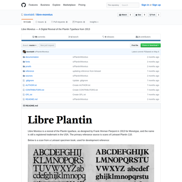 libre-moretus - Libre Moretus - A Digital Revival of the Plantin Typeface from 1913