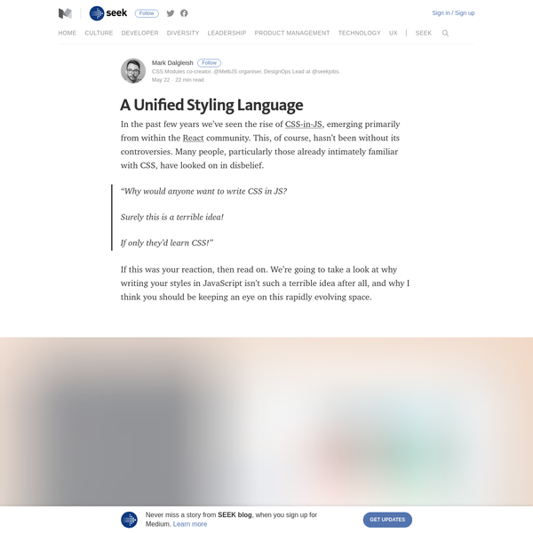 A Unified Styling Language - SEEK blog - Medium