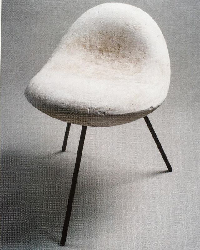 "#IsamuNoguchi, ""Model for William Burden Chair"", c. #1947 (steel legs are replacements from 2007) - image via Kevin Noble"