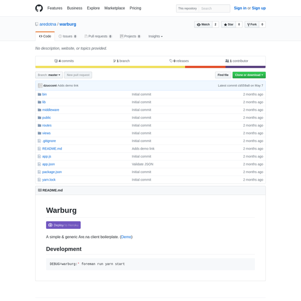 Contribute to warburg development by creating an account on GitHub.