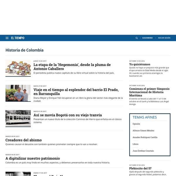 Noticias sobre Historia de Colombia: artículos, videos, fotos y el más completo archivo de noticias de Colombia y el mundo sobre Historia de Colombia
