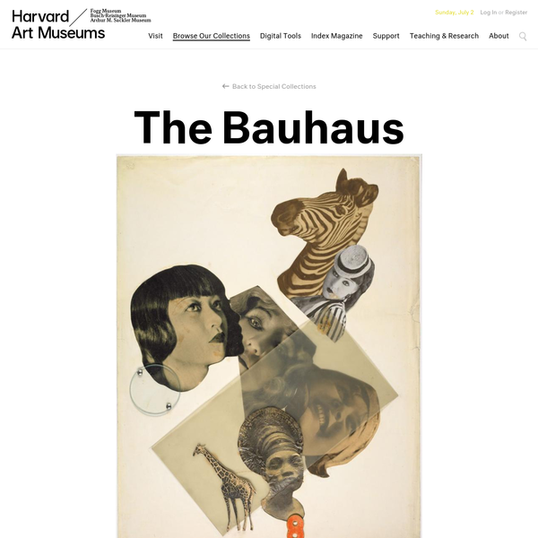 Special Collections, The Bauhaus | Harvard Art Museums