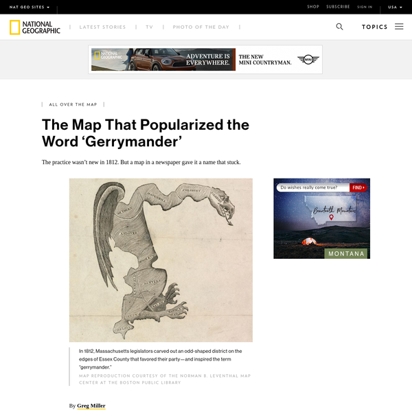 The Map That Popularized the Word 'Gerrymander'