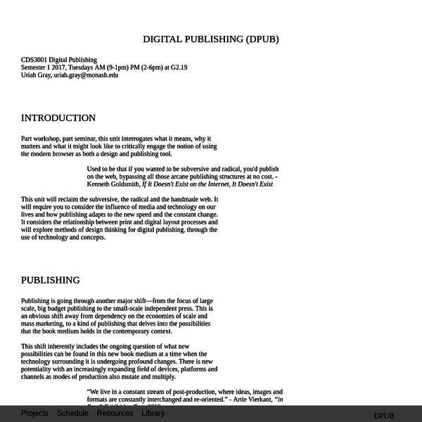 DPUB | Digital Publishing (DPUB)