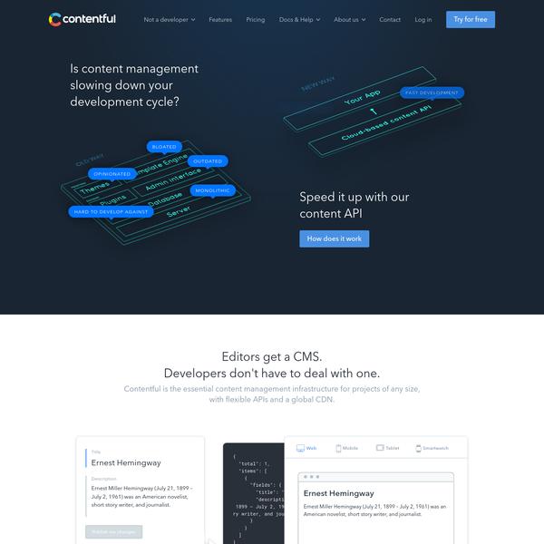 Contentful: a developer-friendly, API-first CMS