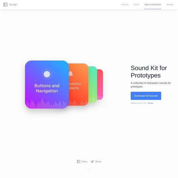 Facebook Design - Sound Kit for Prototypes