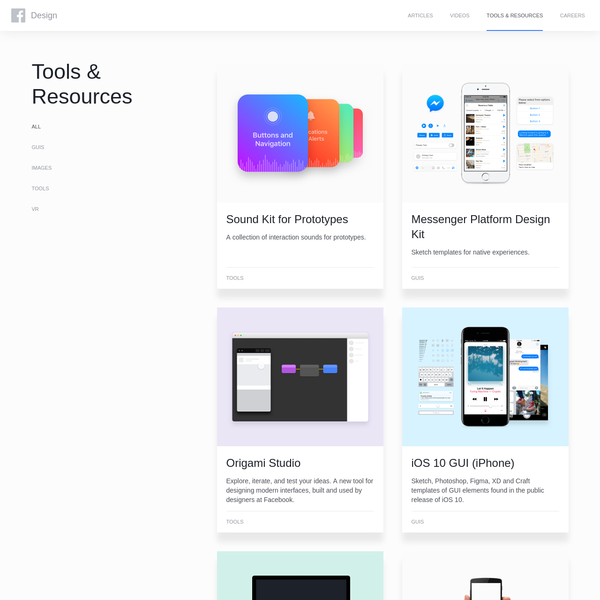 Facebook Design - Tools and Resources