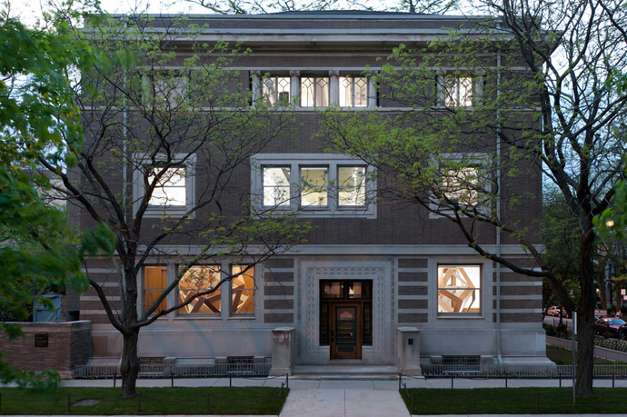 Since 1963, the Graham Foundation has been located in the Madlener House, a 9,000 square foot Prairie-style mansion located in the historic Gold Coast neighborhood of Chicago. The work of architect Richard E. Schmidt and designer Hugh M. G. Garden, the house was built in 1901–02 for Albert Fridolin Madlener and his wife Elsa Seipp Madlener, both of whom came from prominent pioneer Chicago families that emigrated from Germany in the 1850s. In its compact, cubic massing the house is related to the German neoclassical work of Karl Friedrich Schinkel and his followers in Berlin, but in many of its details it clearly reveals the influence of Louis Sullivan and Frank Lloyd Wright. http://www.grahamfoundation.org/