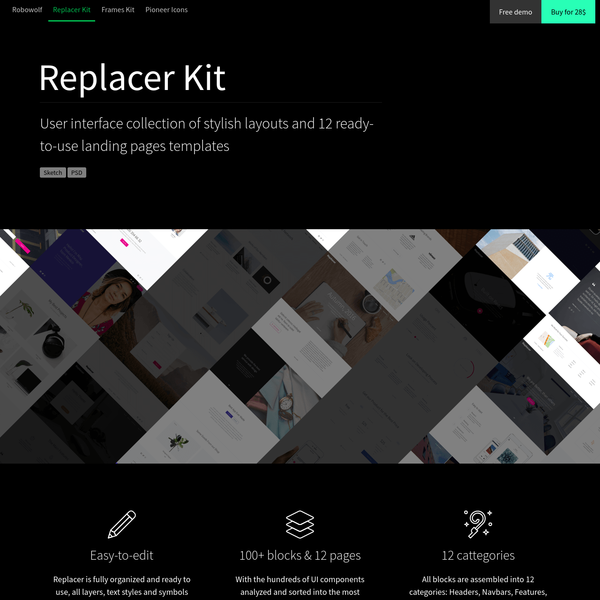 Robowolf. Creative goods for designers and developers