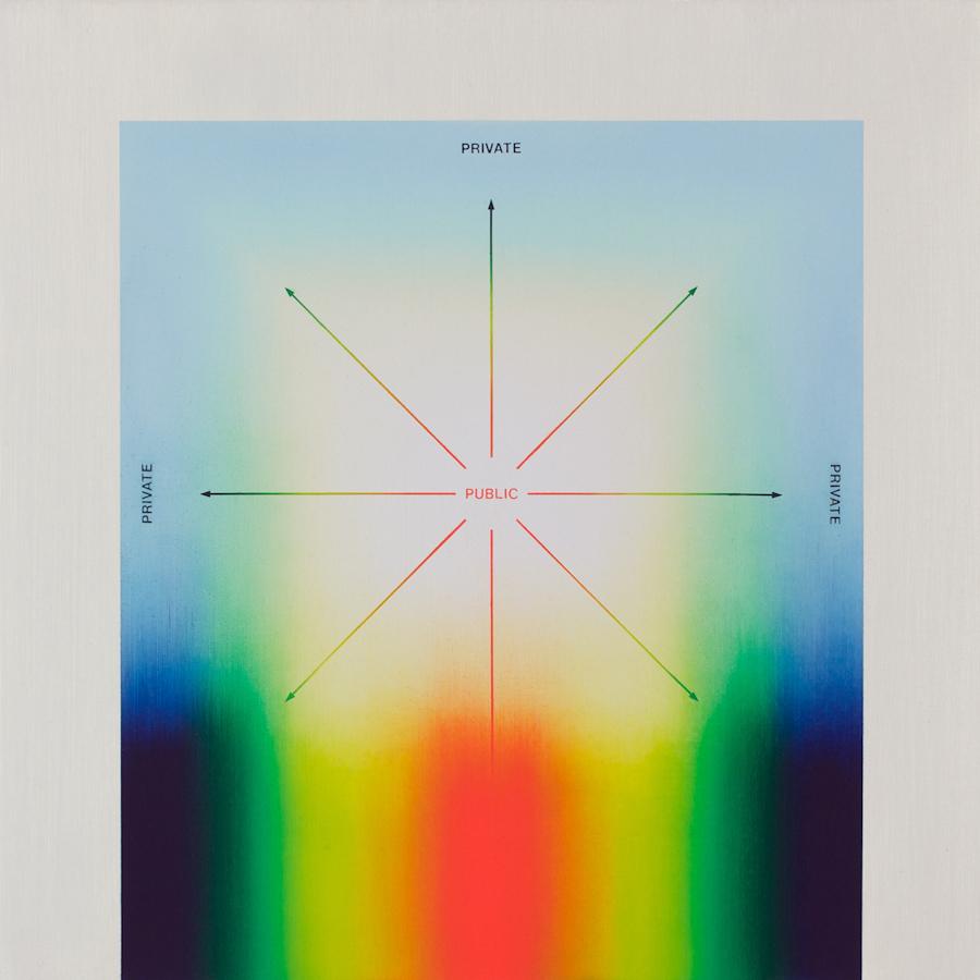 "PUBLIC / PRIVATE  (PART II OF DIPTYCH) 2012. OIL ON CANVAS, 24"" X 24"" (61 X 61CM)  Nicolas Grenier"