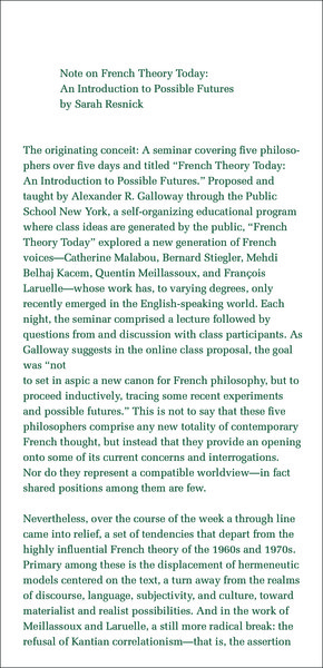 pamphlet made for a class led by Alexander Galloway during the Occupy Wall Street [Public School](http://cultureandcommunication.org/galloway/FTT/)