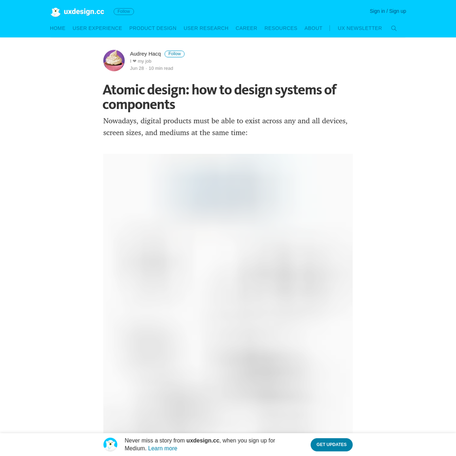 """Today, the idea of Atomic Design is to begin with common raw material (atoms) with which we can build the rest of the project: We have thus not only an """"air de famille"""" between all the screens, but also a system which offers infinite design possibilities!"""