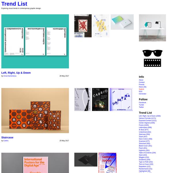 Trend List - Exploring visual trends in contemporary graphic design.
