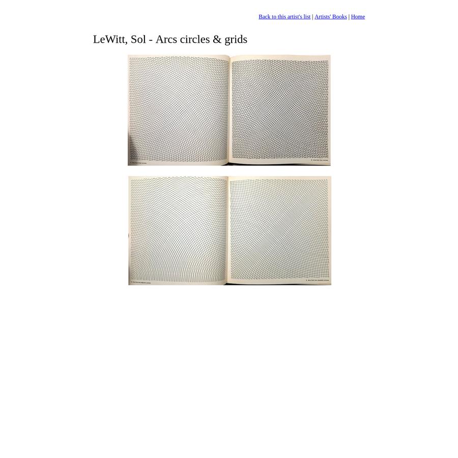 Artists' book by LeWitt Sol - Arcs circles & grids