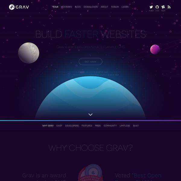 Grav - A Modern Flat-File CMS | Grav