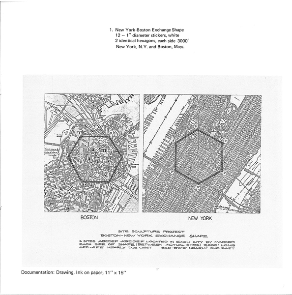 Douglas Huebler, New York–Boston Exchange Shape (1968)