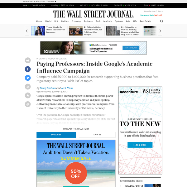 Paying Professors: Inside Google's Academic Influence Campaign