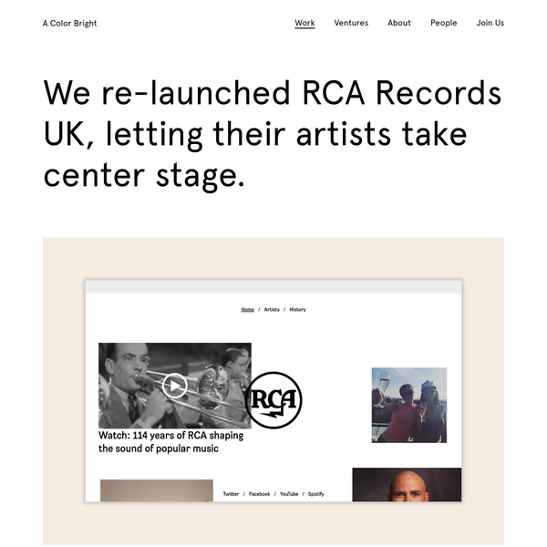 RCA Records UK Relaunch