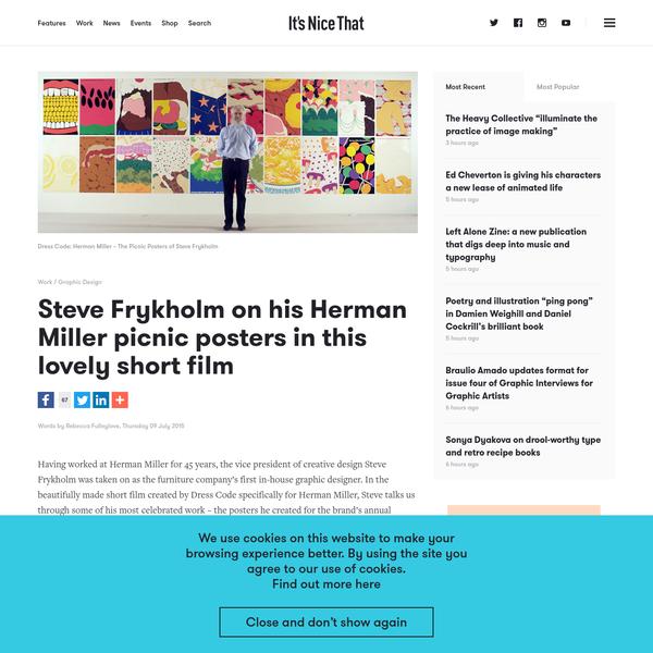 Steve Frykholm on his Herman Miller picnic posters in this lovely short film
