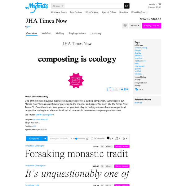 "JHA Times Now - Webfont & Desktop font "" MyFonts"