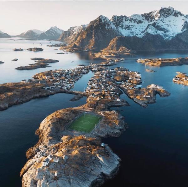 Lofoten Islands Soccer Pitch