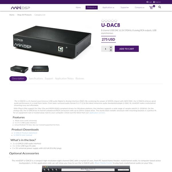 USB Audio Streaming : U-DAC8