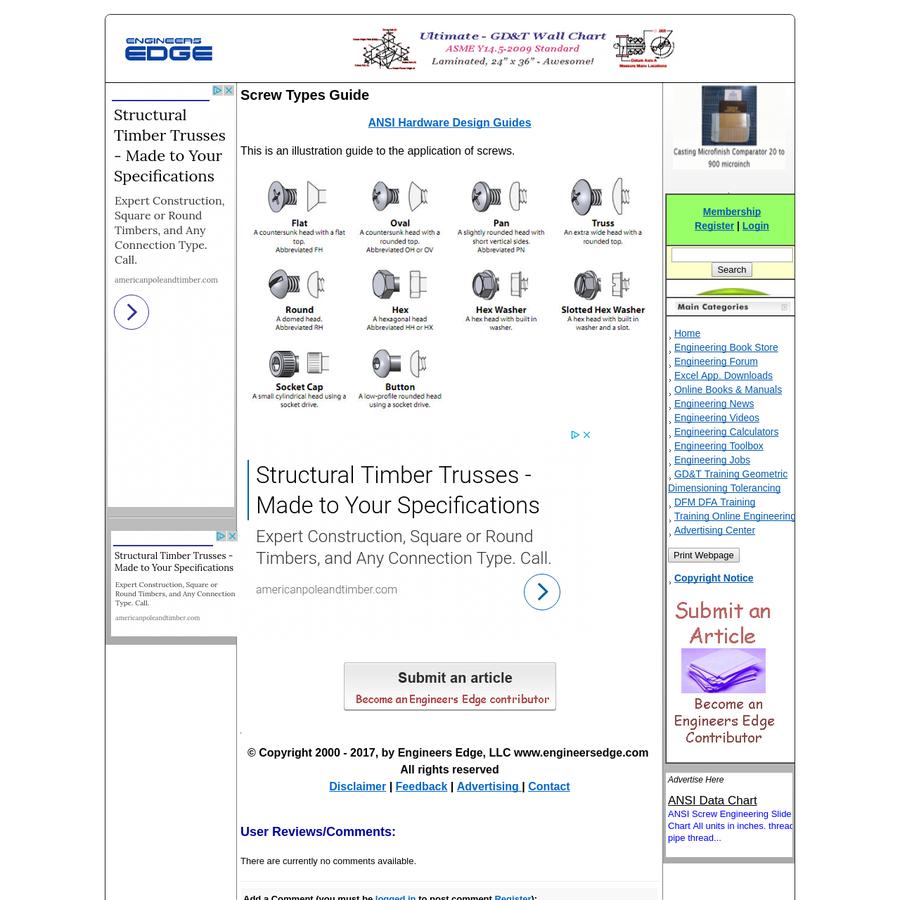Screw Types Guide   Engineers Edge   www.engineersedge.com