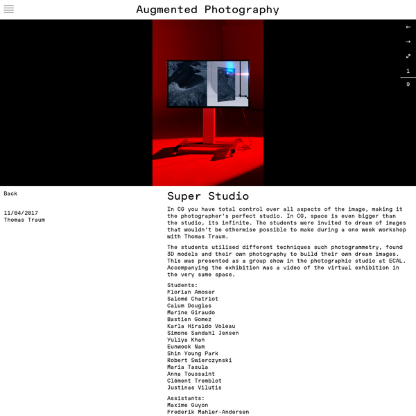 Augmented Photography - Super Studio