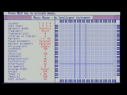 """Theses are 2 Improvisations made using Music Mouse. @0:00 Introduction @0:30 Piano improvisation @4:15 Electronic improvisation @7:45 """"Making of"""" Music Mouse was written by Laurie Spiegel in 1985. When playing this instrument, you simply move the mouse and the software does all the calculations needed to keep the music harmonious."""