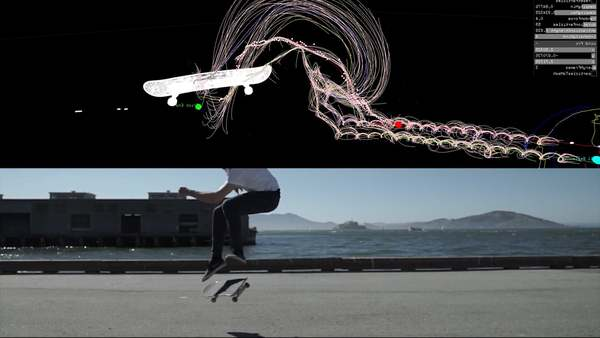 Skateboarding Visualizations http://www.convivial.studio/skateboarding https://www.instructables.com/id/Skateboarding-Visualizations/ Project made at Autodesk Pier 9