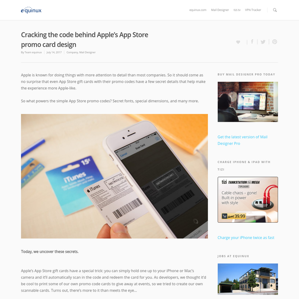 Apple is known for doing things with more attention to detail than most companies. So it should come as no surprise that even App Store gift cards with their promo codes have a few secret details that help make the experience more Apple-like. So what powers the simple App Store promo codes?