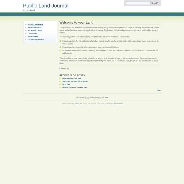 Public Land Journal | Its your Land!