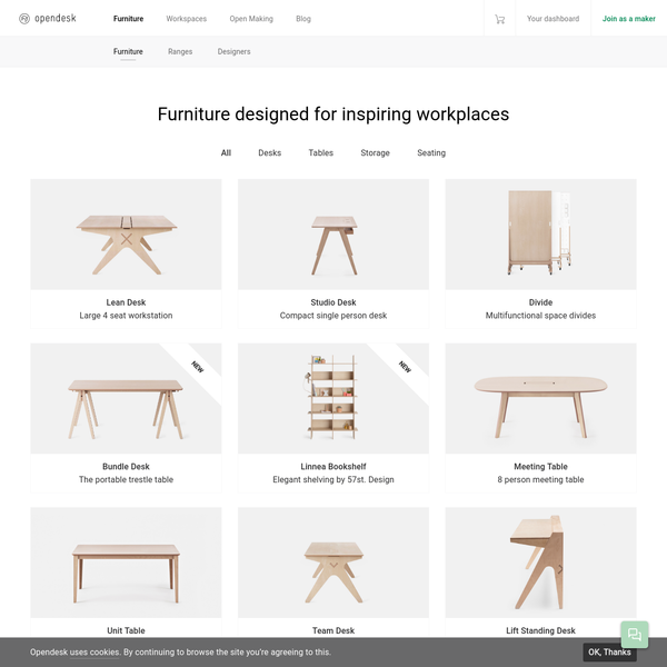 Design furniture for your workspace - Designed Everywhere. Made Here.
