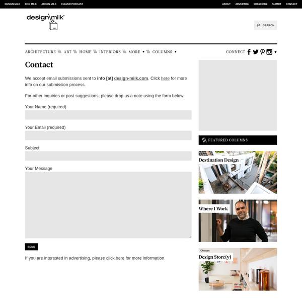 Contact - Design Milk