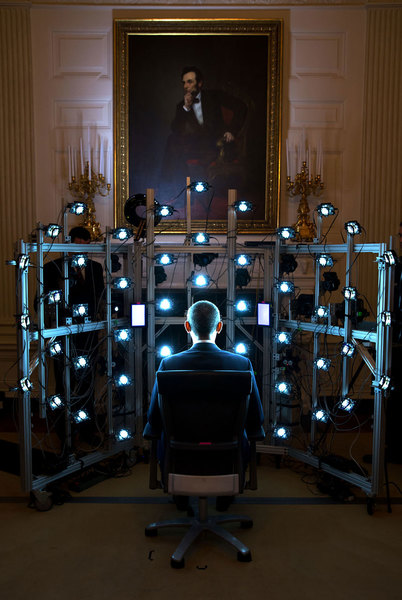 Obama 3D scanning - Pete Souza
