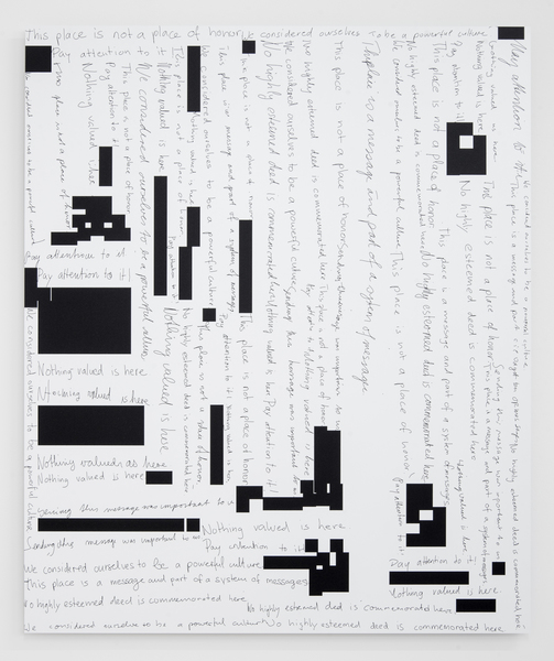 Damon Zucconi, This place is a message and part of a system of messages, 2017