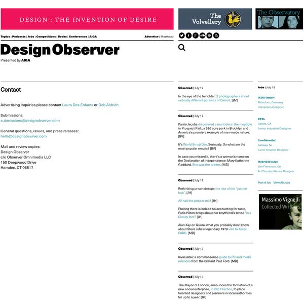 Contact: Design Observer