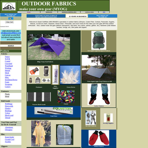 Quest Outfitters - Outdoor Fabrics