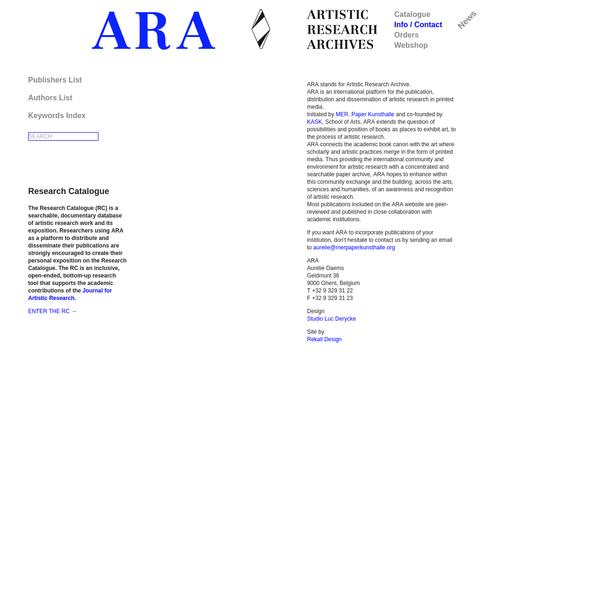 ARAMER > Info/Contact - Ara MER