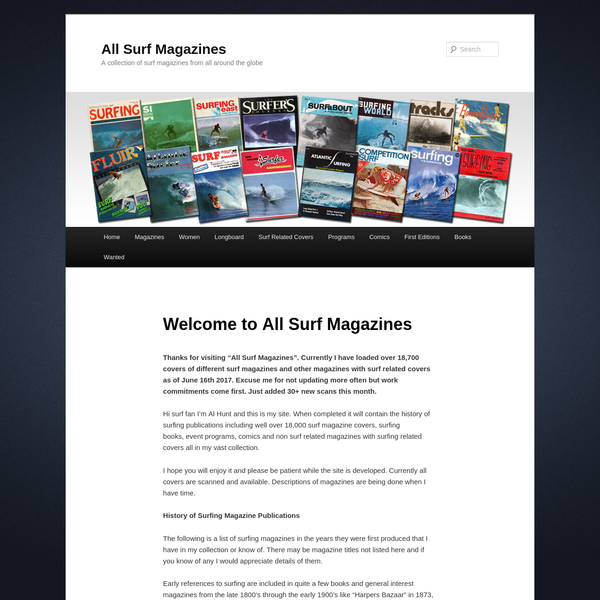 All Surf Magazines - collecting surf magazines from around the globe