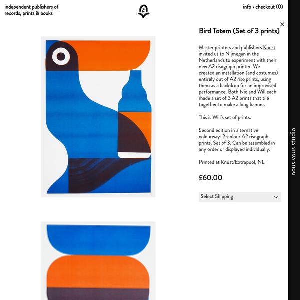 Bird Totem (Set of 3 prints) | Nous Vous Press