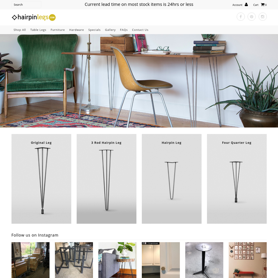 Custom metal fabrication shop hand-crafting furniture & architectural products in the USA. Shop for a variety of DIY furniture legs, fixtures and seating here.