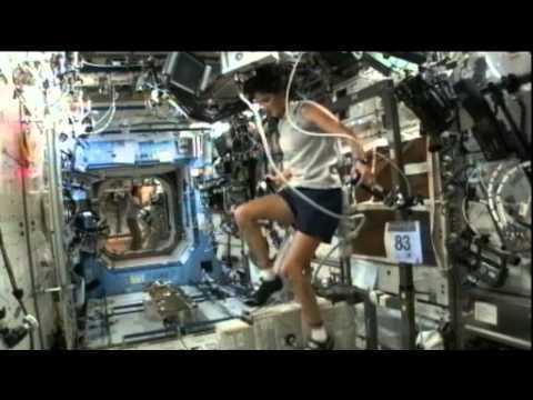 Astronaut Runs Triathlon In Space   Video