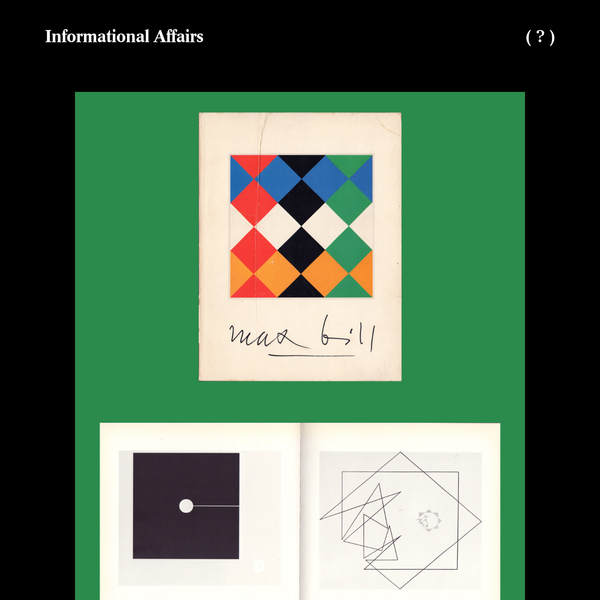 Informational Affairs